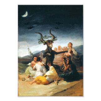 Impresión del Sabat de las brujas de Goya Cojinete