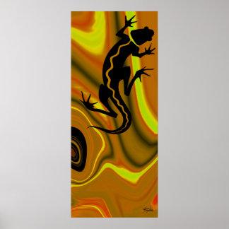 Impresión del Salamander de Malibu (mostaza/amaril Póster