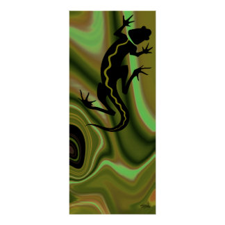 Impresión del Salamander de Malibu (sauce/sabio) Póster
