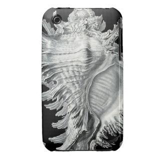 Impresión del Seashell del vintage iPhone 3 Case-Mate Funda