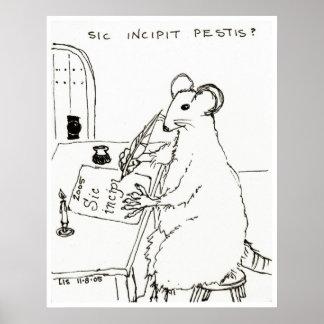 Impresión del Sic Incipit Pestis Poster