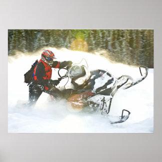 Impresión del Snowmobile del paseo salvaje Póster