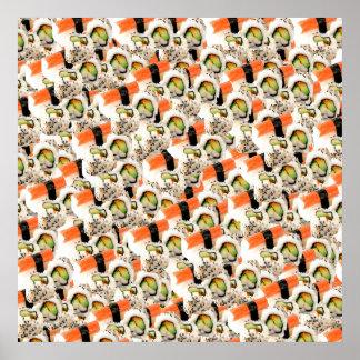 Impresión del sushi poster