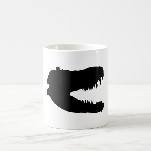 impresión del t-rex taza clásica