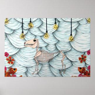 Impresión del teatro 2011 de s de la espina de pez poster