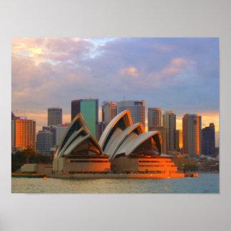 Impresión del teatro de la ópera de Sydney Impresiones
