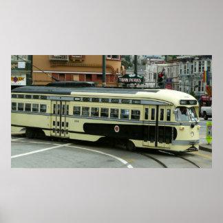Impresión del teleférico de San Francisco Póster