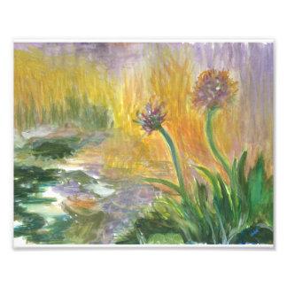 Impresión del tema original de la acuarela w Monet Fotografías