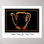 Impresión del tiempo del té poster