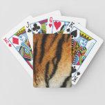 Impresión del tigre barajas de cartas