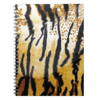Impresión del tigre libreta
