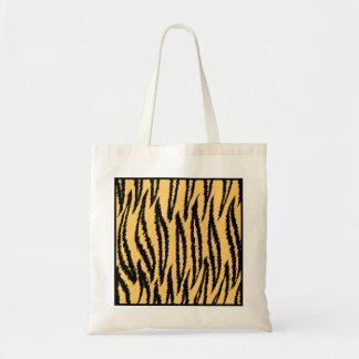 Impresión del tigre. Modelo anaranjado y negro Bolsa