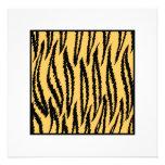 Impresión del tigre. Modelo anaranjado y negro Comunicados Personales