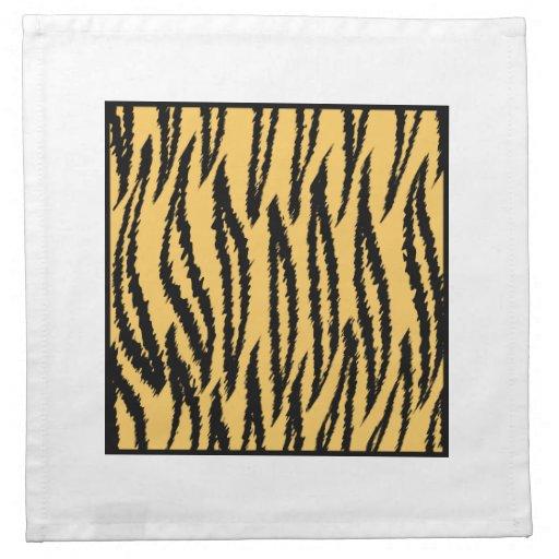 Impresión del tigre. Modelo anaranjado y negro Servilletas De Papel