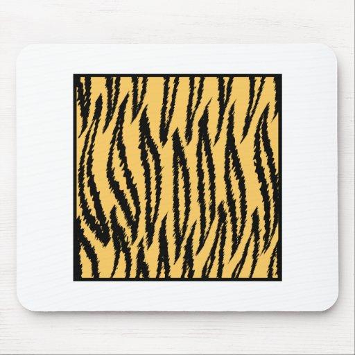 Impresión del tigre. Modelo anaranjado y negro Alfombrillas De Ratones