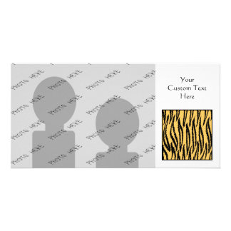 Impresión del tigre. Modelo anaranjado y negro Tarjeta Personal Con Foto