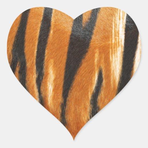 impresión del tigre calcomania de corazon personalizadas
