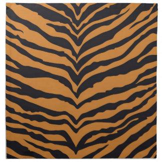 Impresión del tigre servilletas imprimidas
