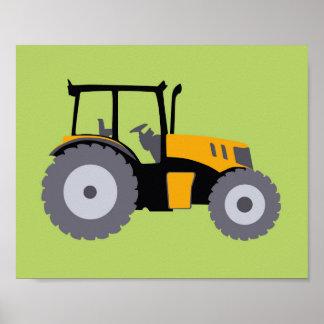 Impresión del tractor del cuarto de niños póster