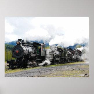 Impresión del tren de Polson Logging Company Póster