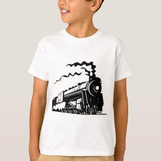 Impresión del tren remeras