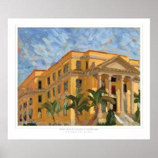 Impresión del tribunal del Palm Beach Póster