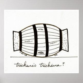 Impresión del trichiuria de Trichuris Póster