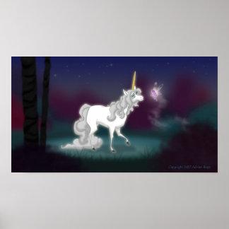 Impresión del unicornio póster