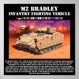 Impresión del vehículo de lucha de la infantería d póster