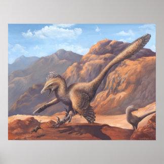 Impresión del Velociraptor Póster
