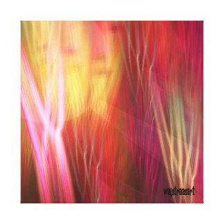 Impresión del verano, extracto artístico lienzo envuelto para galerias