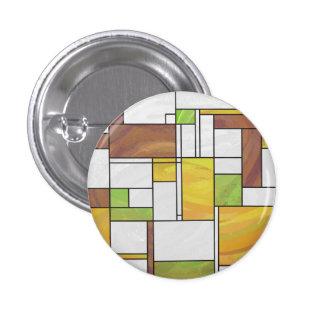 Impresión del verde amarillo de Mondrian Brown Chapa Redonda 2,5 Cm