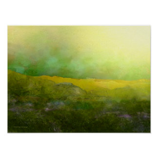 Impresión del verde amarillo del pen¢asco del cope