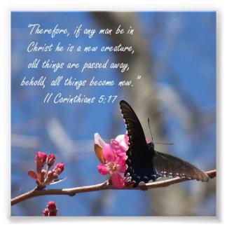 Impresión del verso del 5:17 de los Corinthians de Fotos