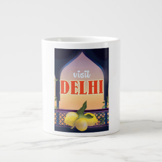 Impresión del viaje del vintage de Delhi Taza Grande