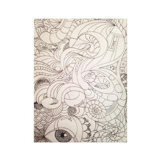 Impresión del Viaje-uno-Doodle (bosquejo original) Impresiones En Lona Estiradas