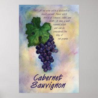 Impresión del vino de Cabernet-Sauvignon Póster