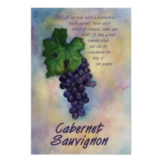 Impresión del vino de Cabernet-Sauvignon Posters