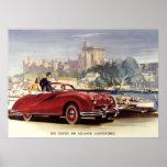 Impresión del vintage de Austin A90 Poster