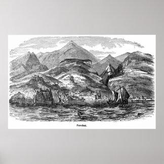 Impresión del vintage de Funchal, Madeira Poster