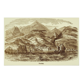 Impresión del vintage de Funchal, Madeira Impresiones