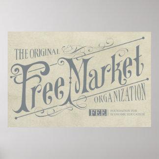 Impresión del vintage de la tarifa póster