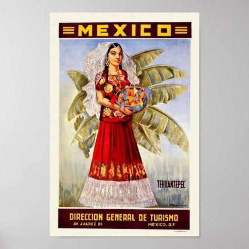 Impresión del vintage de México Póster