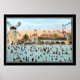 Impresión del vintage de Miami Beach
