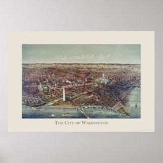 Impresión del vintage de Washington, C.C. Posters