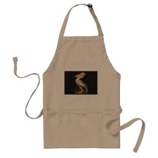 Impresión del vintage del pájaro del pelícano blan delantal