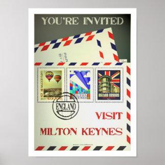 Impresión del vintage del poster del viaje de Milt