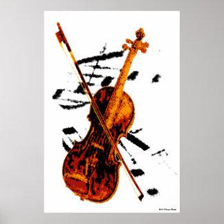 Impresión del violín posters