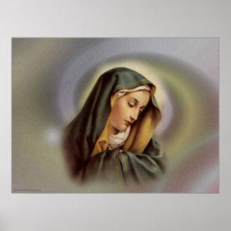 Impresión del Virgen María 2 Póster