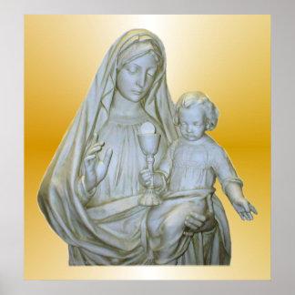 Impresión del Virgen María Posters